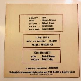 FERDA VE ANADOLU POP - KAHPE FELEK - AĞLARIM GURBETTE 45 LİK PLAK ( AUSTRALİA BASKI ) (E)