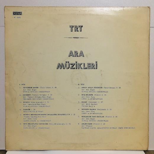 TRT ARA MÜZİKLERİ 1 LP