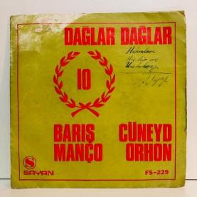 BARIŞ MANÇO & CÜNEYT ORHON - DAĞLAR DAĞLAR 1 - 2 45 LİK PLAK